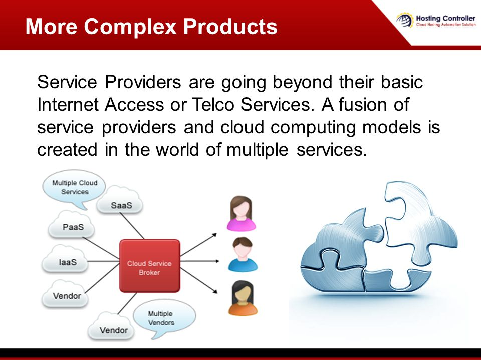 More Complex Products Service Providers are going beyond their basic Internet Access or Telco Services.