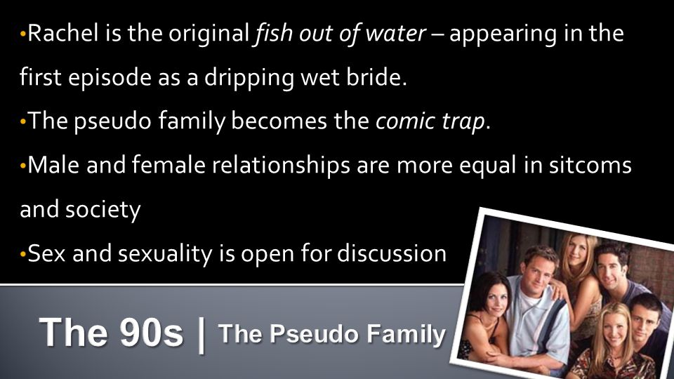 Rachel is the original fish out of water – appearing in the first episode as a dripping wet bride.