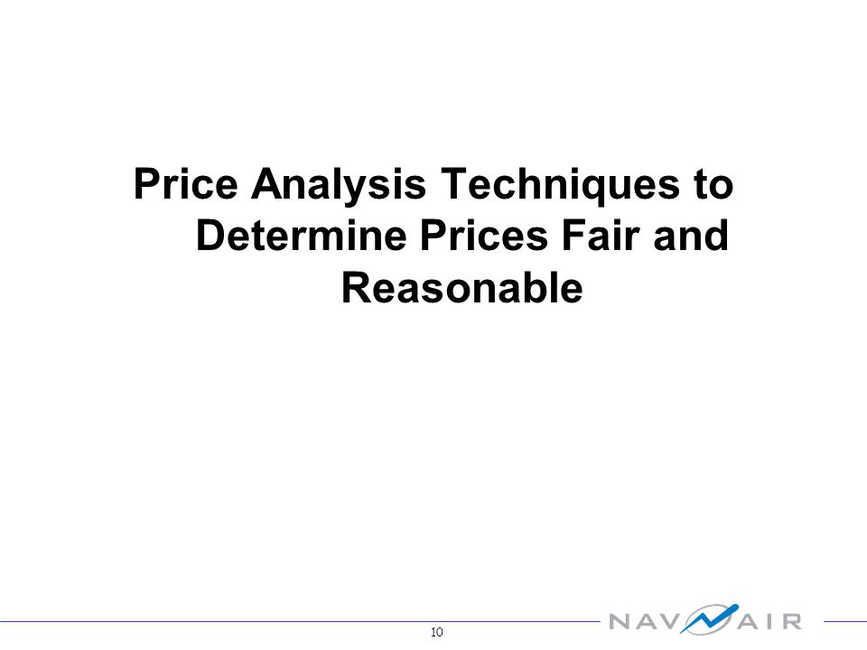 10 Price Analysis Techniques to Determine Prices Fair and Reasonable