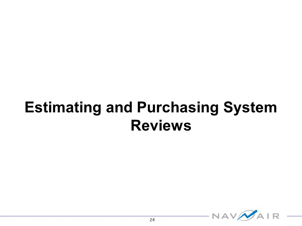 24 Estimating and Purchasing System Reviews