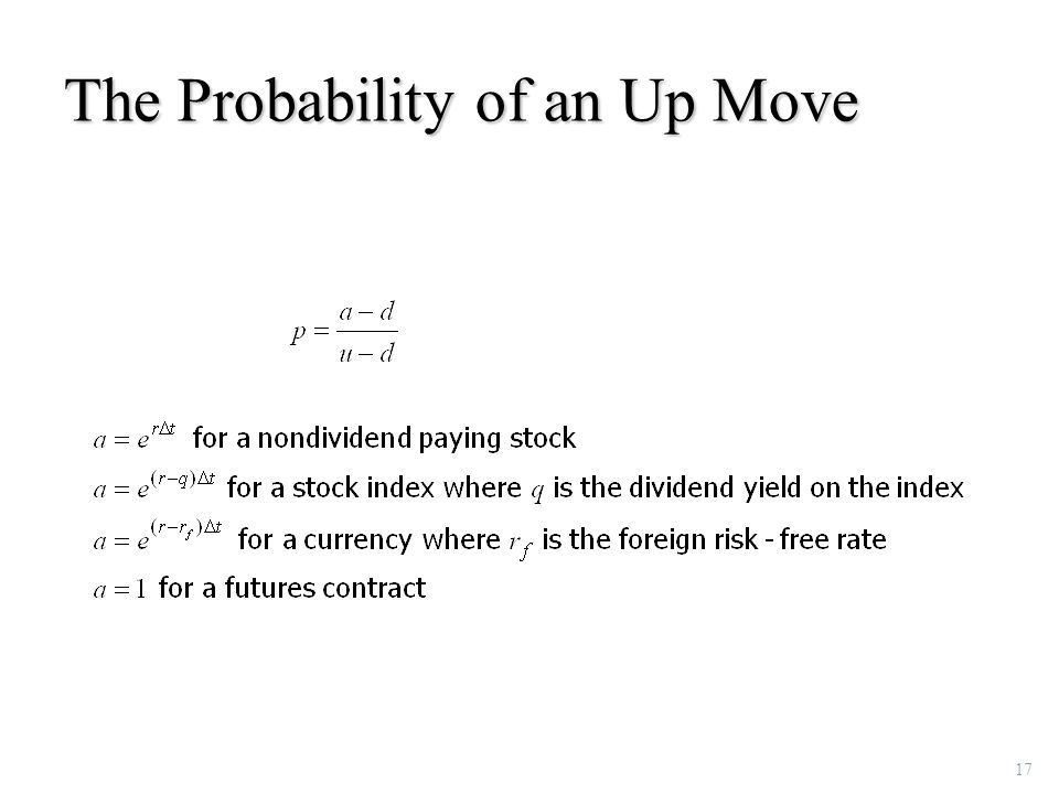 17 The Probability of an Up Move