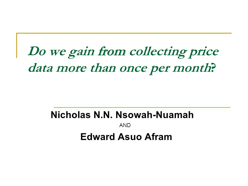 from Do we gain from collecting price data more than once per month.