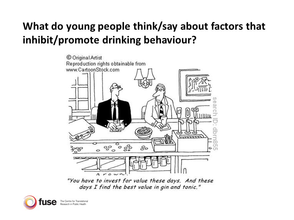 What do young people think/say about factors that inhibit/promote drinking behaviour