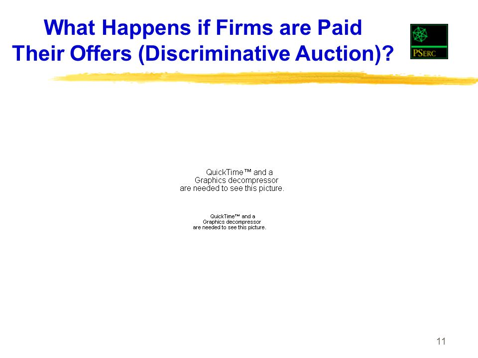 11 What Happens if Firms are Paid Their Offers (Discriminative Auction)