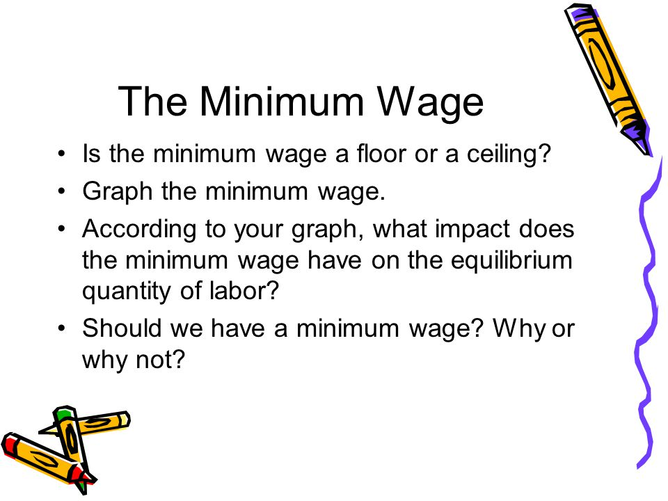 The Minimum Wage Is the minimum wage a floor or a ceiling.