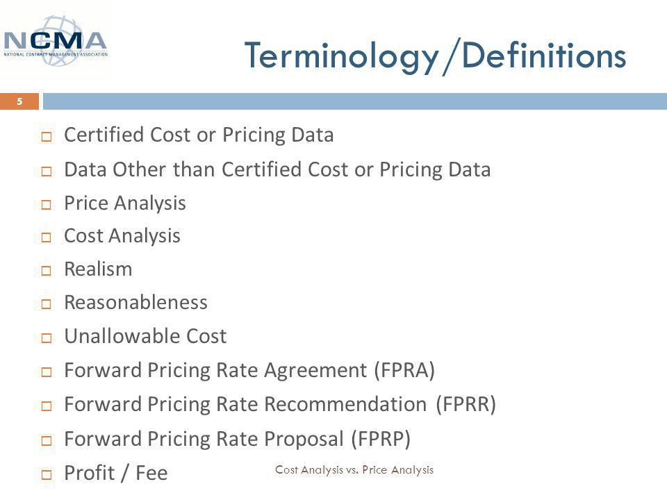 Cost Analysis Vs Price Analysis Andrea Oneill Costprice Analyst 27