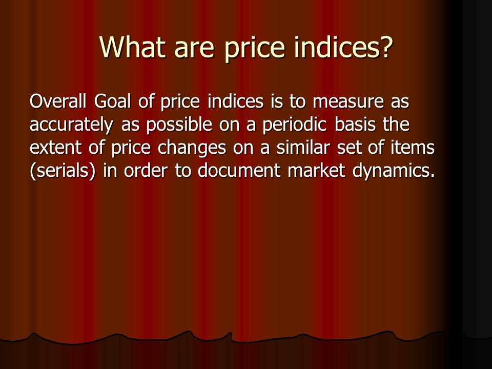 What are price indices.