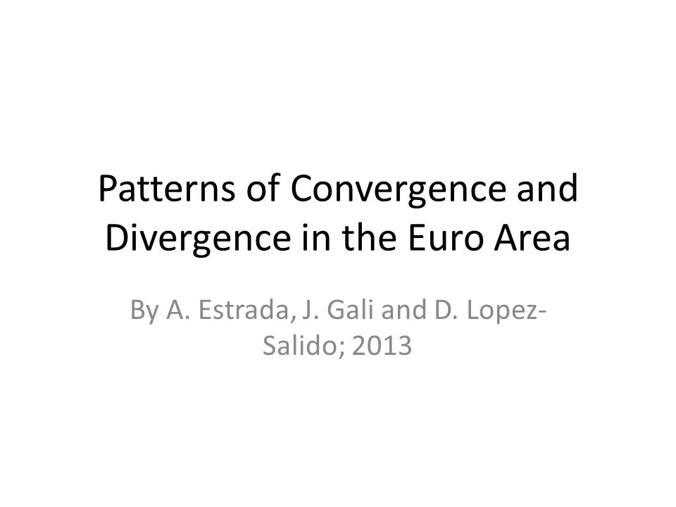 Patterns of Convergence and Divergence in the Euro Area By A.