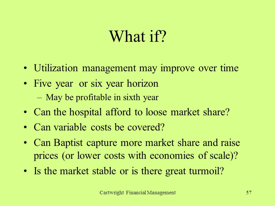 Cartwright Financial Management57 What if.