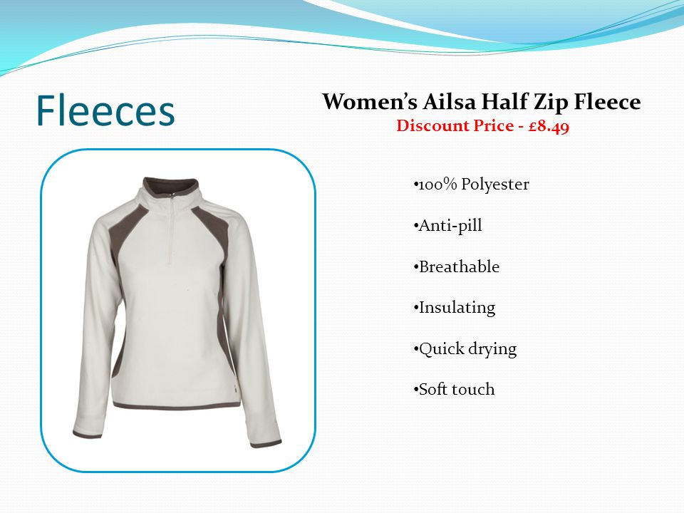Fleeces 100% Polyester Anti-pill Breathable Insulating Quick drying Soft touch Womens Ailsa Half Zip Fleece Discount Price - £8.49