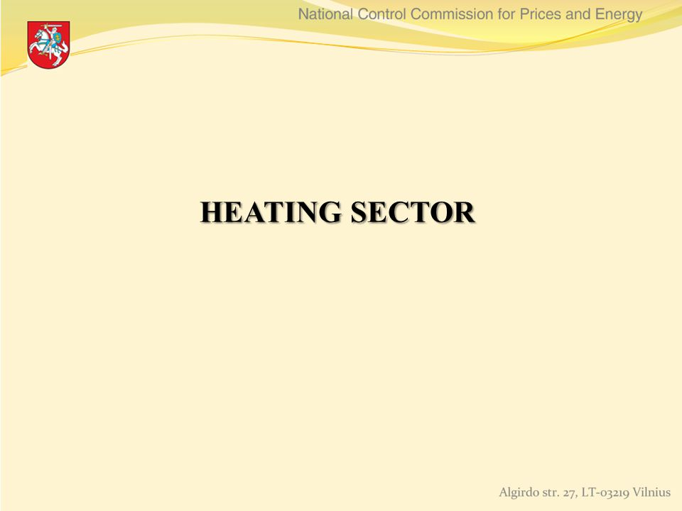 HEATING SECTOR HEATING SECTOR
