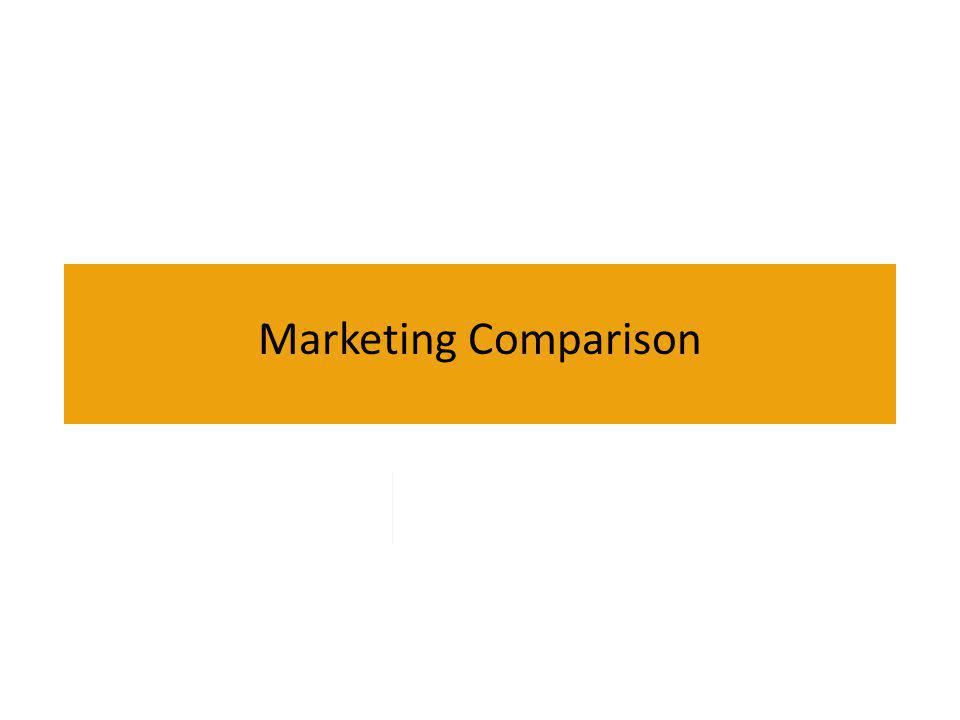 Marketing Comparison