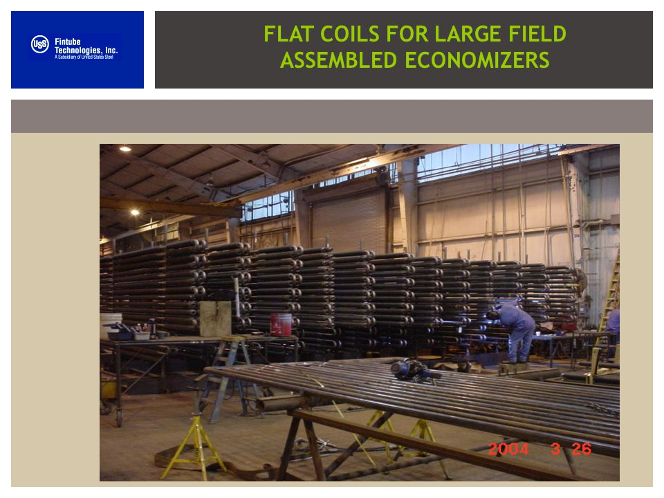 FLAT COILS FOR LARGE FIELD ASSEMBLED ECONOMIZERS