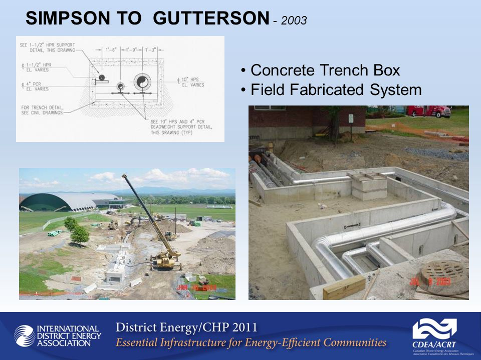 Concrete Trench Box Field Fabricated System SIMPSON TO GUTTERSON - 2003