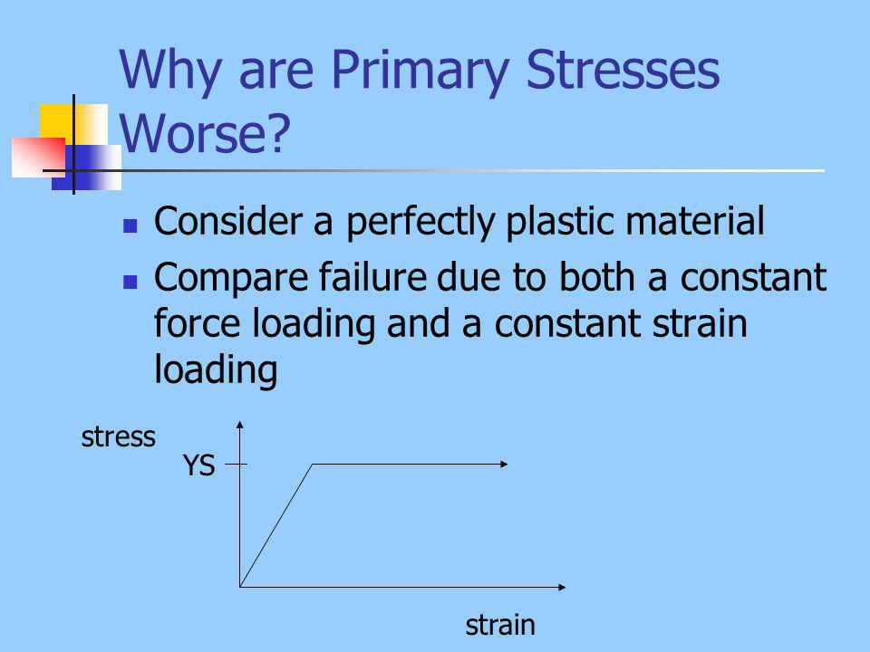 Why are Primary Stresses Worse.
