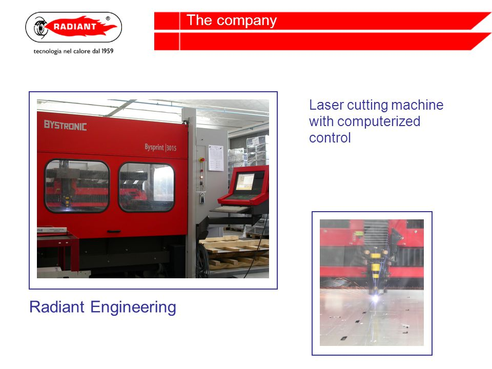 Laser cutting machine with computerized control Radiant Engineering
