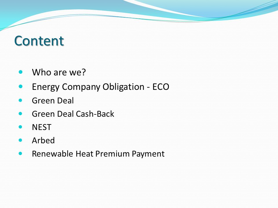 2 Content Who Are We Energy Company Obligation Eco Green Deal