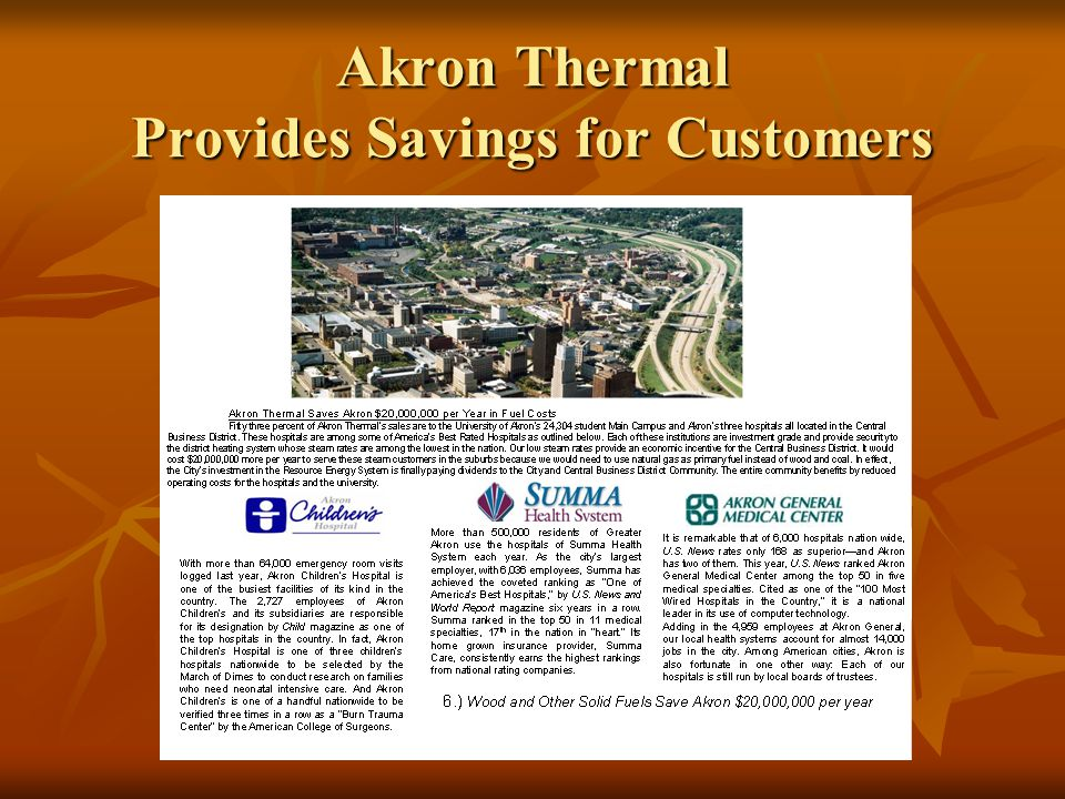 Akron Thermal Provides Savings for Customers