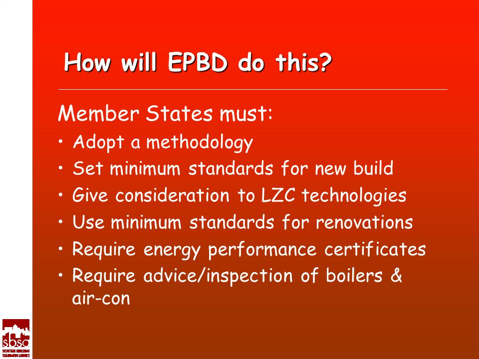 How will EPBD do this.
