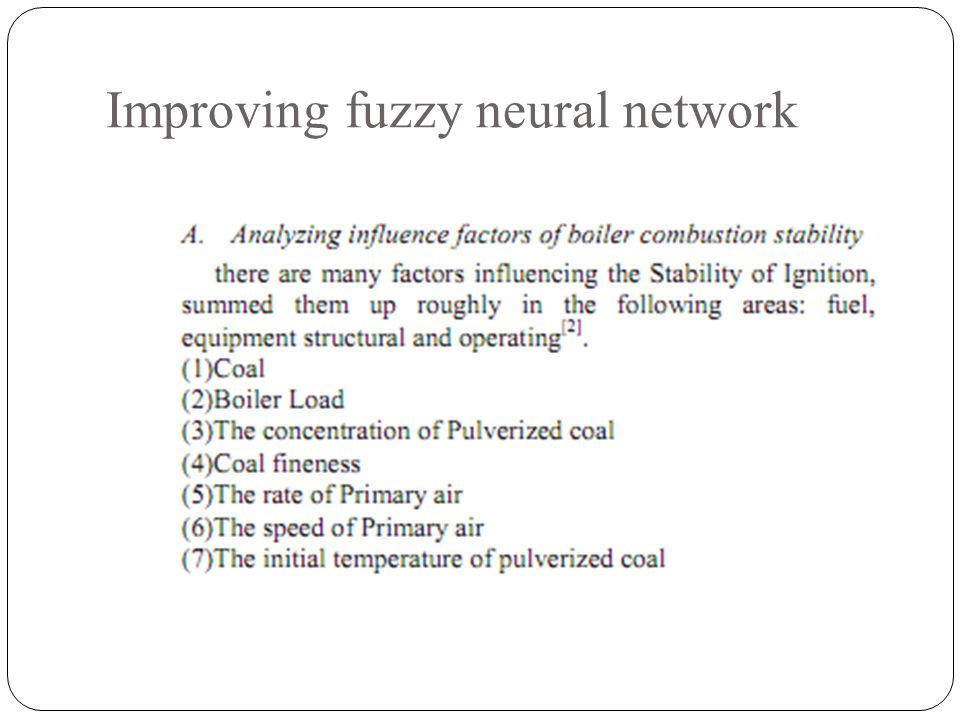 Improving fuzzy neural network