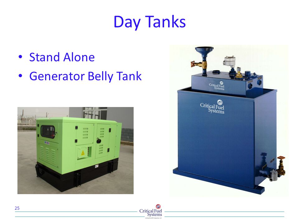 Day Tanks Stand Alone Generator Belly Tank 25