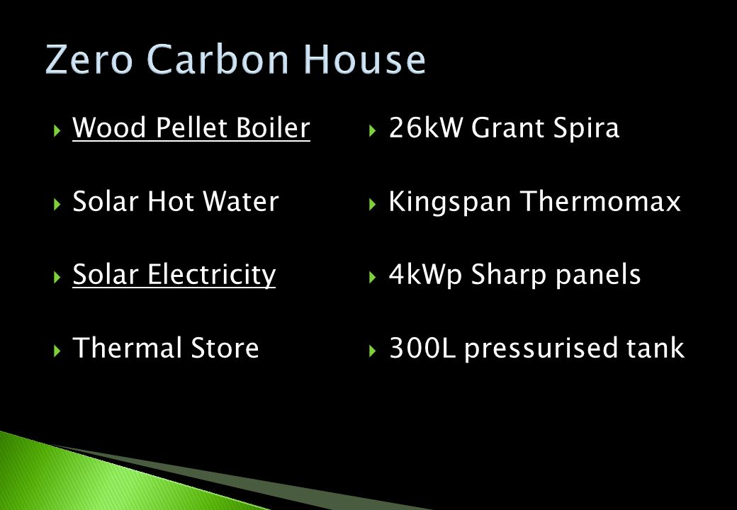 Wood Pellet Boiler Solar Hot Water Solar Electricity Thermal Store 26kW Grant Spira Kingspan Thermomax 4kWp Sharp panels 300L pressurised tank