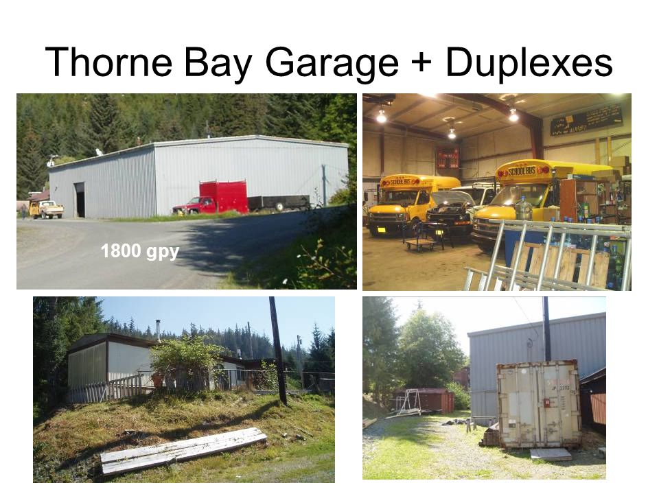 Thorne Bay Garage + Duplexes 1800 gpy