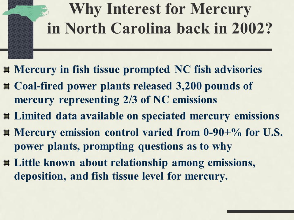 Why Interest for Mercury in North Carolina back in 2002.