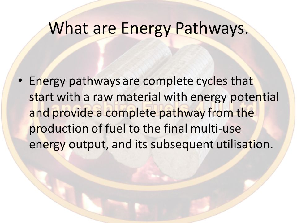 What are Energy Pathways.