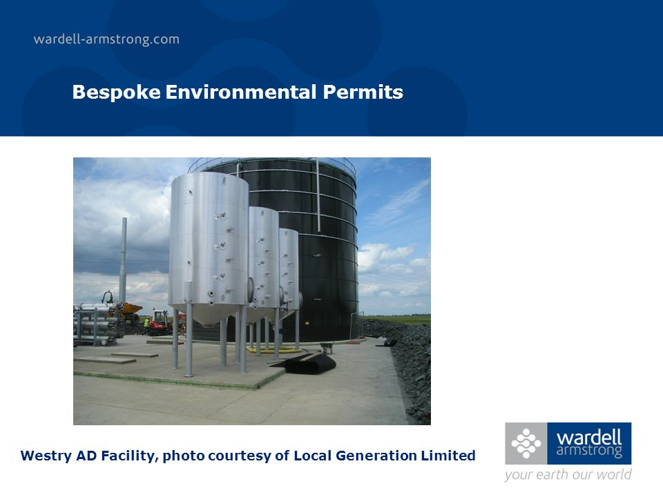 Bespoke Environmental Permits Westry AD Facility, photo courtesy of Local Generation Limited
