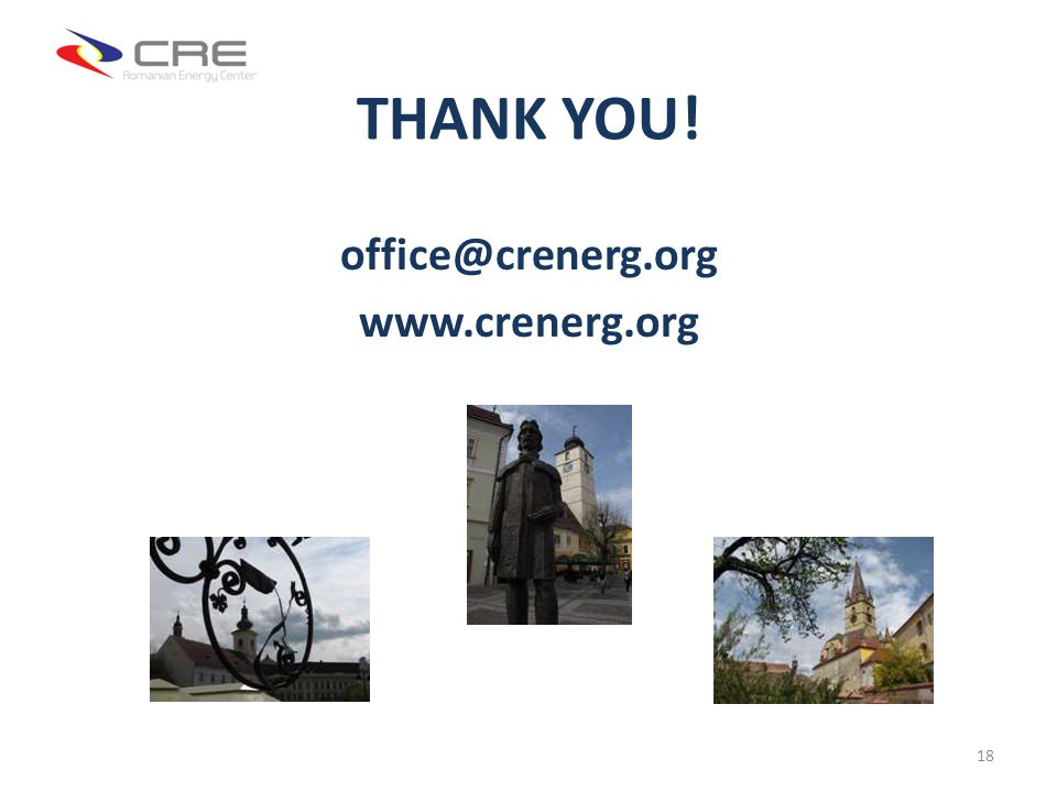 THANK YOU! office@crenerg.org www.crenerg.org 18