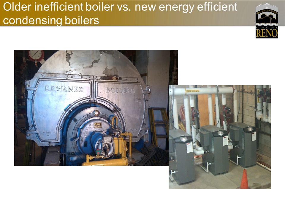 Older inefficient boiler vs. new energy efficient condensing boilers