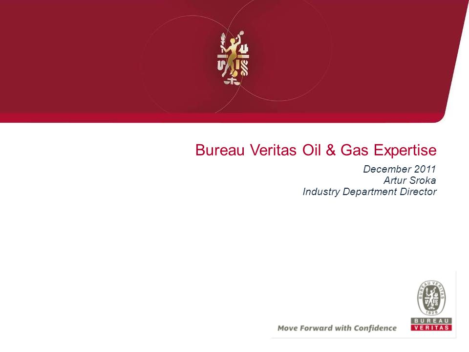 Bureau Veritas Oil & Gas Expertise December 2011 Artur Sroka Industry Department Director