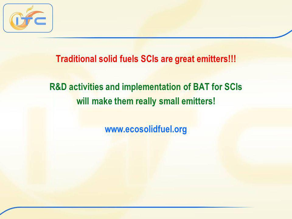 Traditional solid fuels SCIs are great emitters!!.