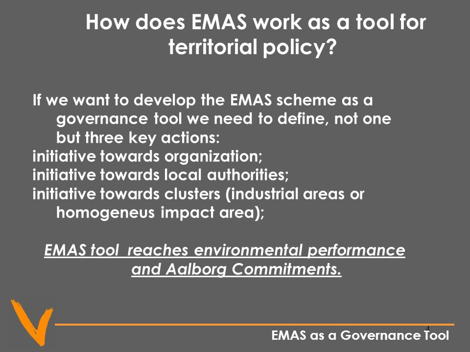 4 How does EMAS work as a tool for territorial policy.