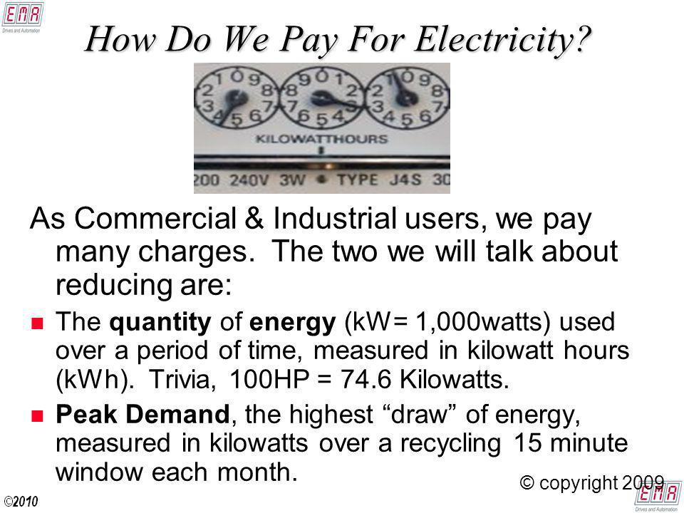 How Do We Pay For Electricity. As Commercial & Industrial users, we pay many charges.