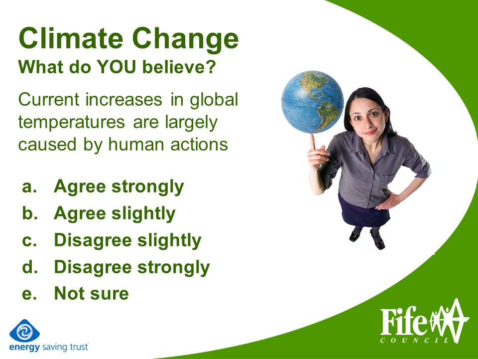 Climate Change What do YOU believe.