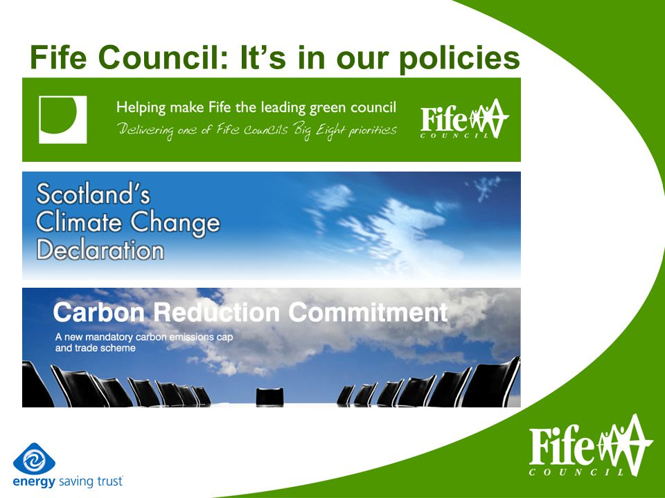 Fife Council: Its in our policies