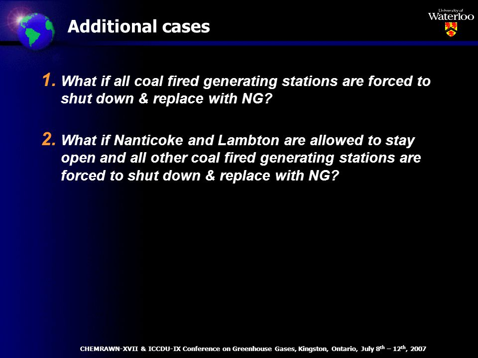 1. What if all coal fired generating stations are forced to shut down & replace with NG.