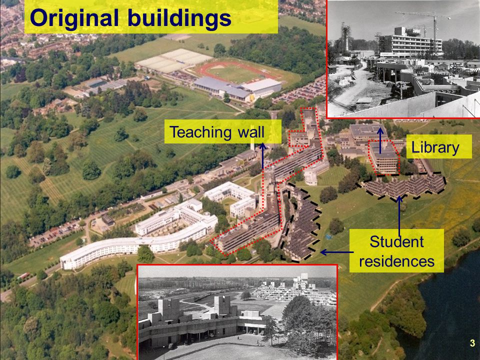 Original buildings Teaching wall Library Student residences 3