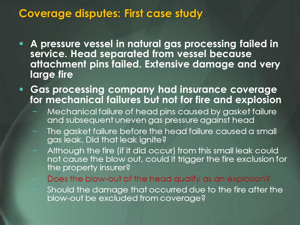 A pressure vessel in natural gas processing failed in service.