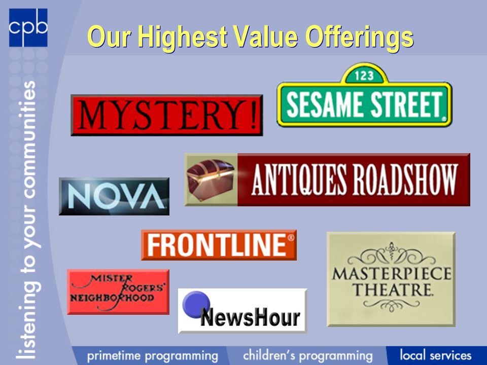 Our Highest Value Offerings