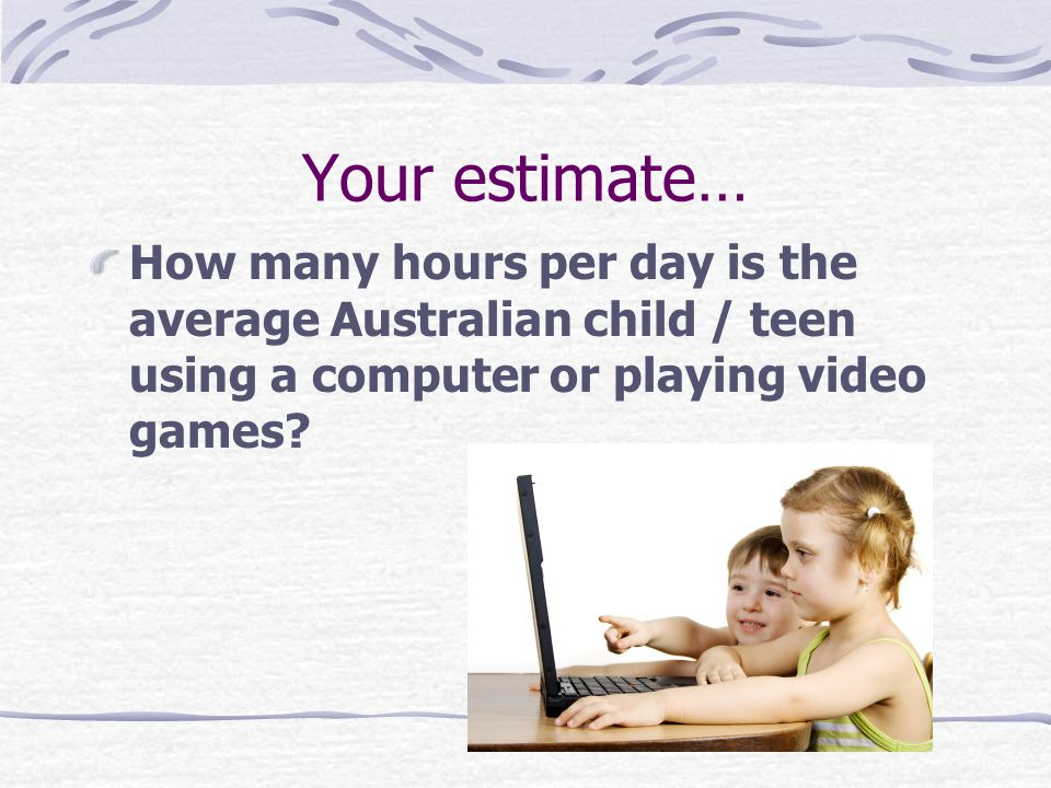 Australian children and teens aged eight to 18 spend an average of four hours a day watching TV ….