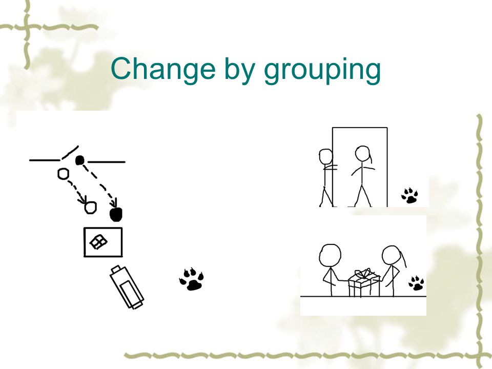 Change by grouping