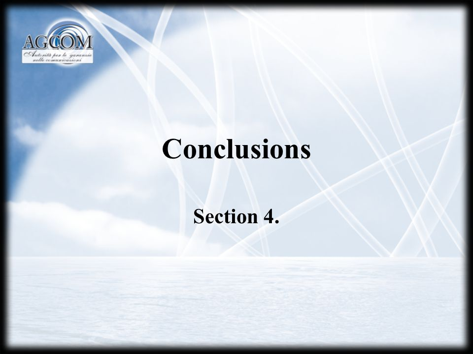 Conclusions Section 4.