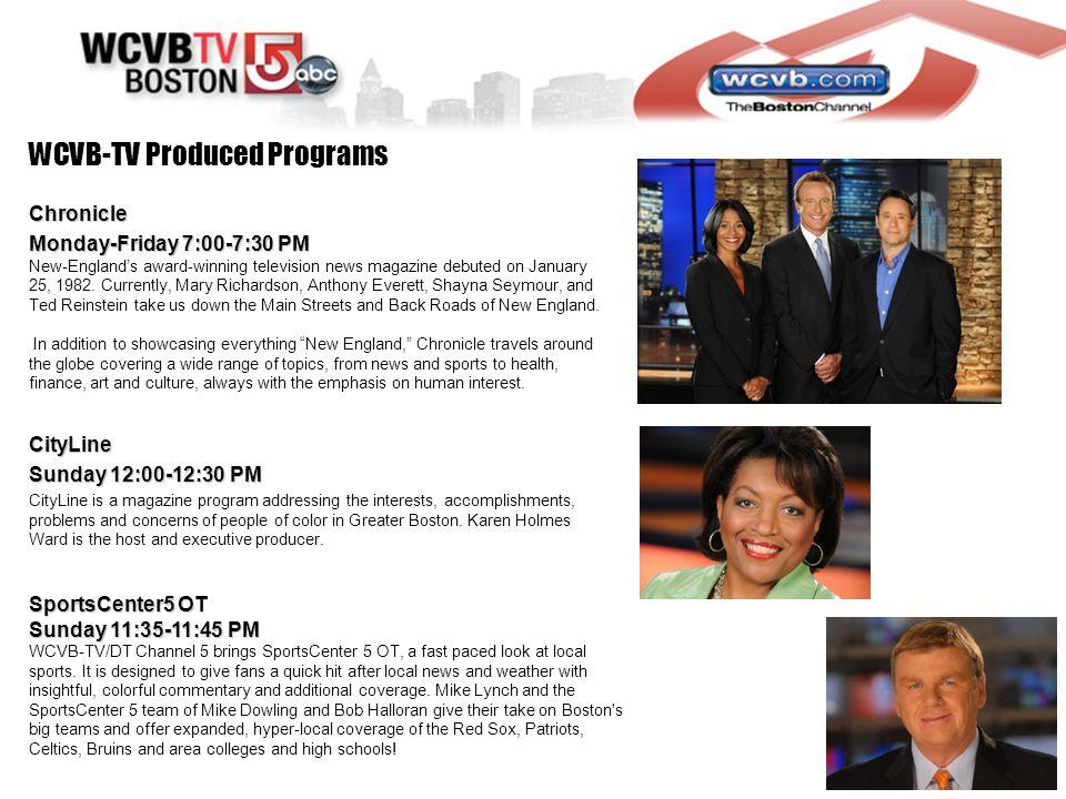 2011 Media Kit 2013 Media Kit  WCVB-TV / HEARST TELEVISION