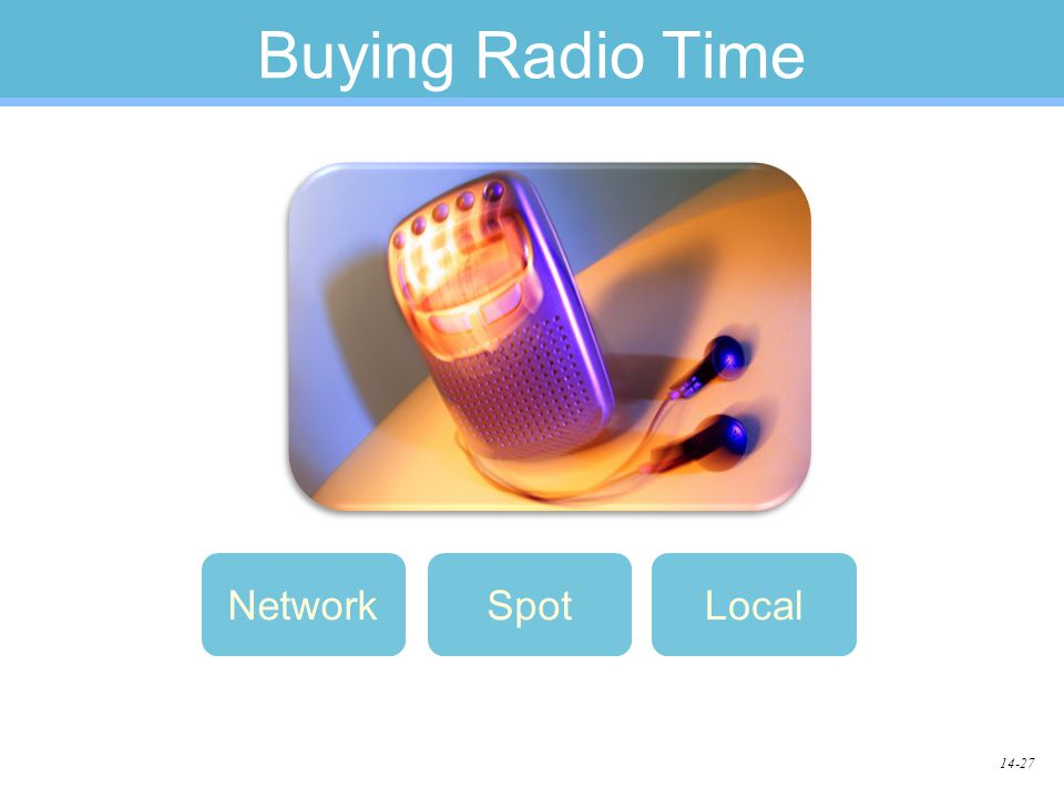14-27 Buying Radio Time LocalNetworkSpot