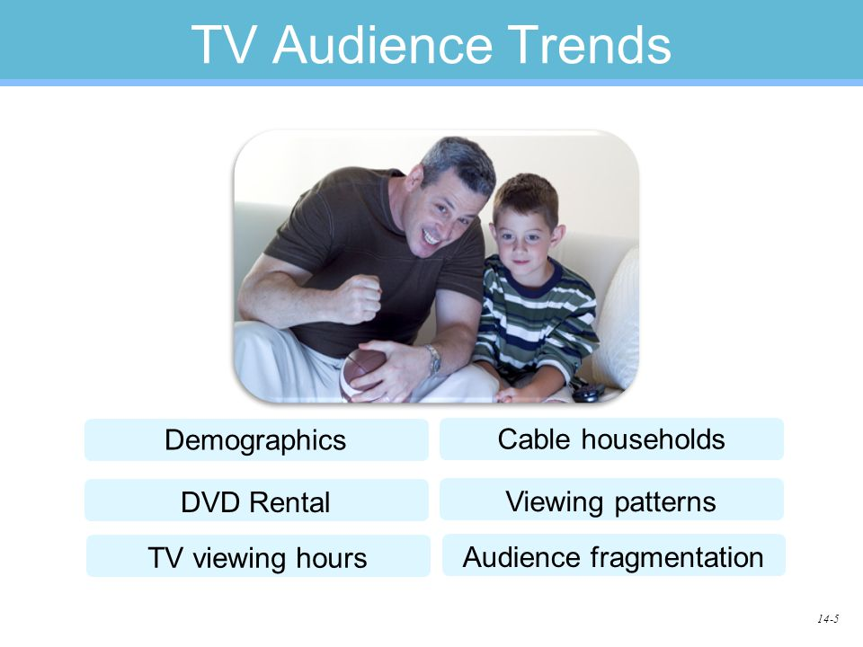 14-5 TV Audience Trends Demographics DVD Rental Cable households Viewing patterns TV viewing hours Audience fragmentation