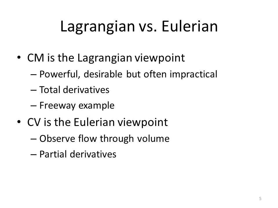 Lagrangian vs.