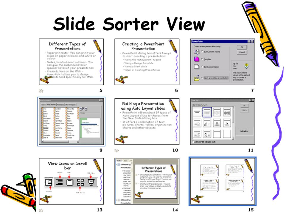 Lecture 7, Term Slide Sorter View